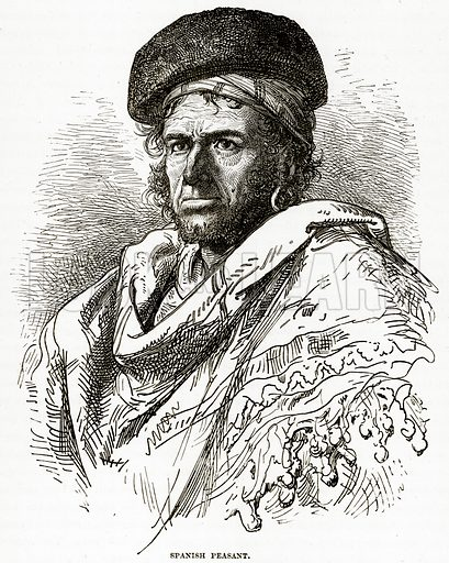 Spanish Peasant. Illustration from The Countries of the World by Robert Brown (Cassell, c 1890).