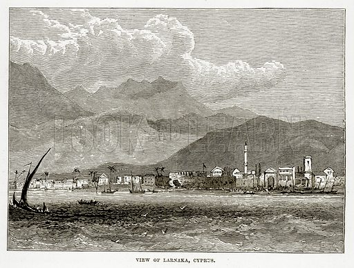 View of Larnaka, Cyprus. Illustration from The Countries of the World by Robert Brown (Cassell, c 1890).