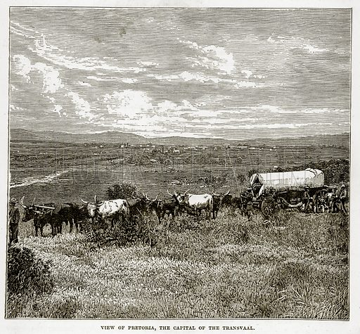 View of Pretoria, the Capital of the Transvaal. Illustration from The Countries of the World by Robert Brown (Cassell, c 1890).