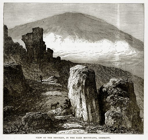 View of the Brocken, in the Harz Mountains, Germany. Illustration from The Countries of the World by Robert Brown (Cassell, c 1890).