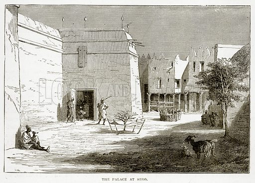 The Palace at Sego. Illustration from The Countries of the World by Robert Brown (Cassell, c 1890).