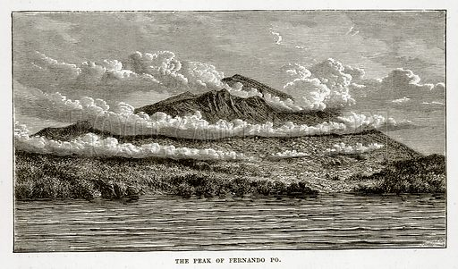 The Peak of Fernando Po. Illustration from The Countries of the World by Robert Brown (Cassell, c 1890).