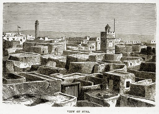 View of Susa. Illustration from The Countries of the World by Robert Brown (Cassell, c 1890).