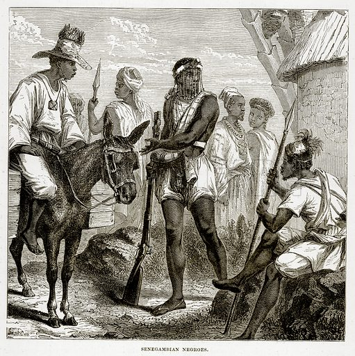 Senegambian Negroes. Illustration from The Countries of the World by Robert Brown (Cassell, c 1890).
