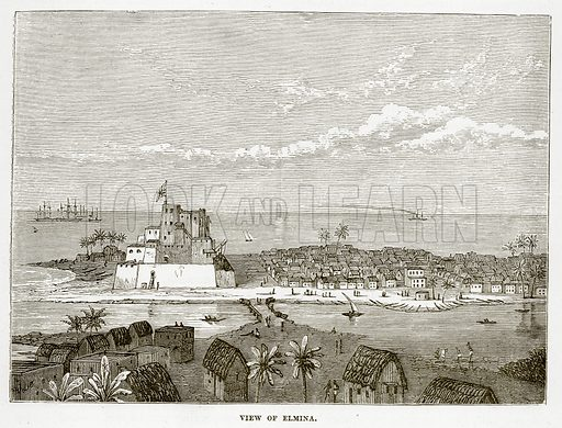 View of Elmina. Illustration from The Countries of the World by Robert Brown (Cassell, c 1890).