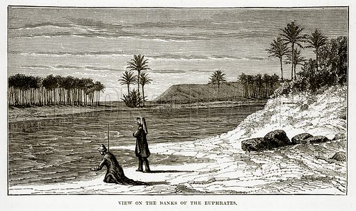 View on the Ranks of the Euphrates. Illustration from The Countries of the World by Robert Brown (Cassell, c 1890).