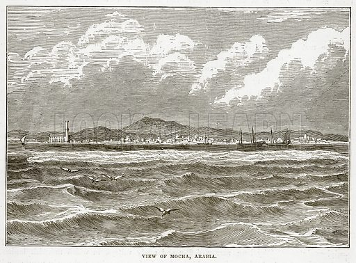 View of Mocha, Arabia. Illustration from The Countries of the World by Robert Brown (Cassell, c 1890).