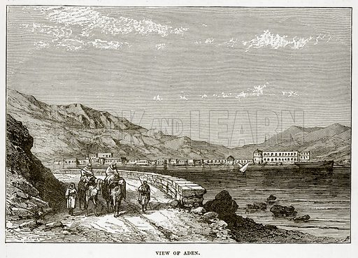 View of Aden. Illustration from The Countries of the World by Robert Brown (Cassell, c 1890).