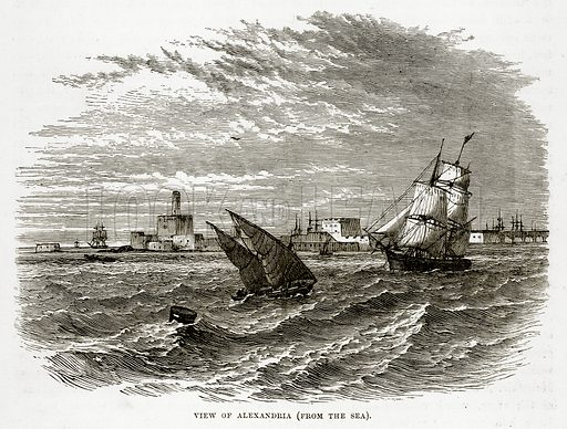 View of Alexandria. Illustration from The Countries of the World by Robert Brown (Cassell, c 1890).