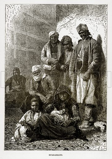 Bulgarians. Illustration from The Countries of the World by Robert Brown (Cassell, c 1890).