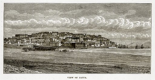 View of Jaffa. Illustration from The Countries of the World by Robert Brown (Cassell, c 1890).