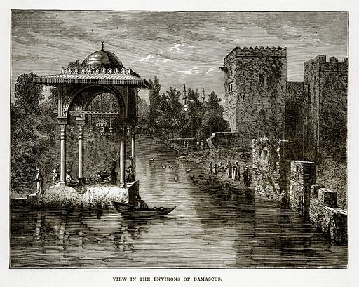 View in the Environs of Damascus. Illustration from The Countries of the World by Robert Brown (Cassell, c 1890).