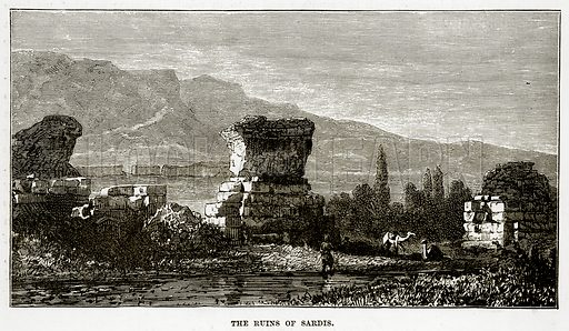 The Ruins of Sardis. Illustration from The Countries of the World by Robert Brown (Cassell, c 1890).