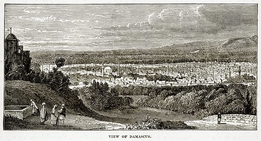 View of Damascus. Illustration from The Countries of the World by Robert Brown (Cassell, c 1890).