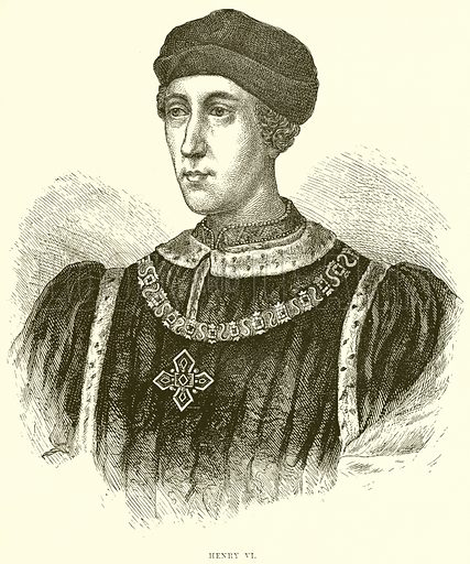 Henry VI. Illustration from The People's History of England (Cassell Petter & Galpin, c 1890).