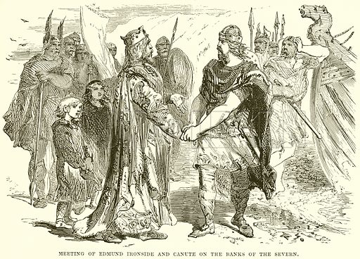 Meeting of Edmund Ironside and Canute on the Banks of the Severn