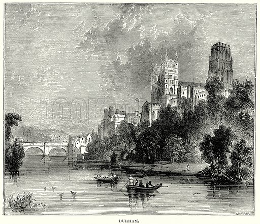 Durham. Illustration from The People's History of England (Cassell Petter & Galpin, c 1890).