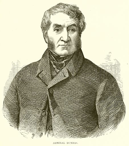 Admiral Dundas. Illustration from The People's History of England (Cassell Petter & Galpin, c 1890).