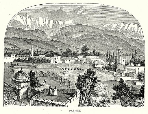 Tarsus. Illustration from The Illustrated History of the World (Ward Lock, c 1880).