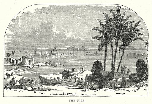 The Nile. Illustration from The Illustrated History of the World (Ward Lock, c 1880).