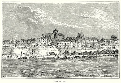 Syracuse. Illustration from The Illustrated History of the World (Ward Lock, c 1880).