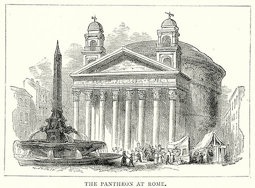 The Pantheon at Rome. Illustration from The Illustrated History of the World (Ward Lock, c 1880).