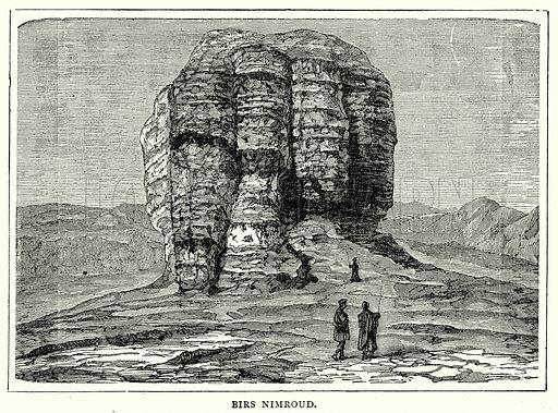 Birs Nimroud. Illustration from The Illustrated History of the World (Ward Lock, c 1880).