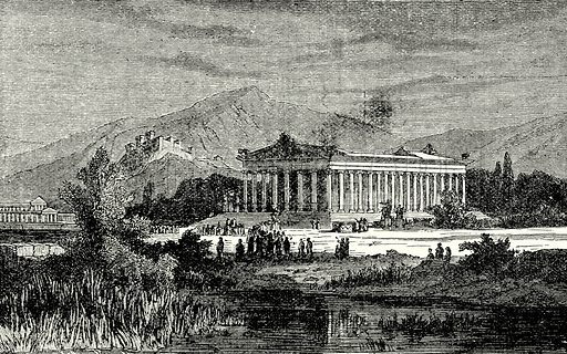 Temple of Diana, Ephesus. Illustration from The Illustrated History of the World (Ward Lock, c 1880).