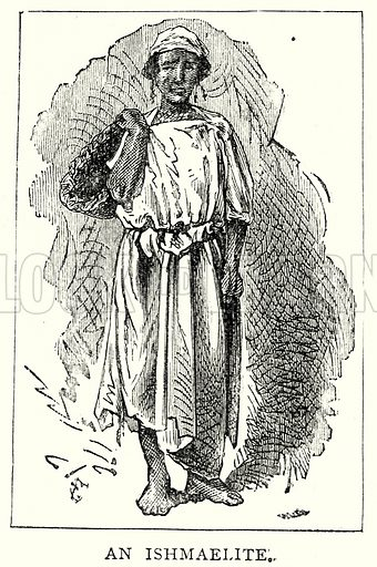 An Ishmaelite. Illustration from The Illustrated History of the World (Ward Lock, c 1880).