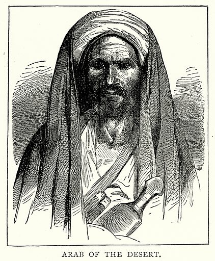 Abab of the Desert. Illustration from The Illustrated History of the World (Ward Lock, c 1880).