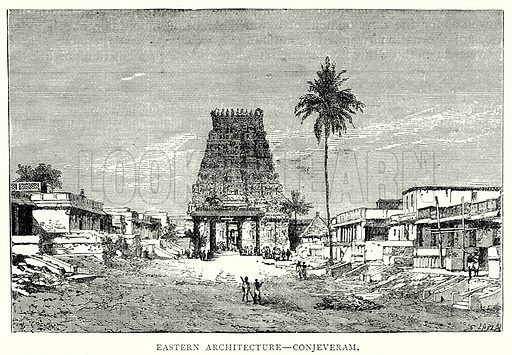 Eastern Architecture – Conjeveram. Illustration from The Illustrated History of the World (Ward Lock, c 1880).