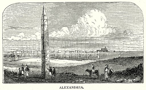 Alexandria. Illustration from The Illustrated History of the World (Ward Lock, c 1880).