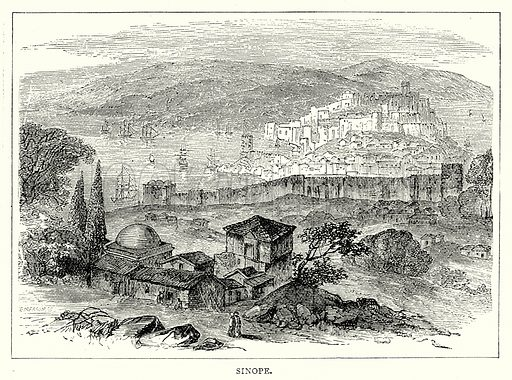 Sinope. Illustration from The Illustrated History of the World (Ward Lock, c 1880).