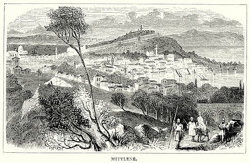 Mitylene. Illustration from The Illustrated History of the World (Ward Lock, c 1880).