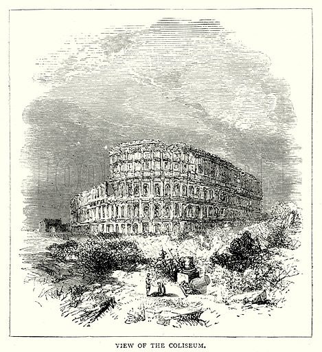 View of the Coliseum. Illustration from The Illustrated History of the World (Ward Lock, c 1880).