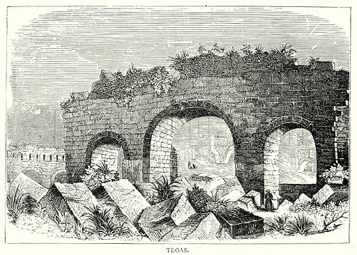 Troas. Illustration from The Illustrated History of the World (Ward Lock, c 1880).