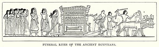 Funeral Rites of the Ancient Egyptians. Illustration from The Illustrated History of the World (Ward Lock, c 1880).