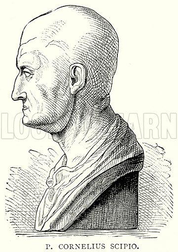 P. Cornelius Scipio. Illustration from The Illustrated History of the World (Ward Lock, c 1880).