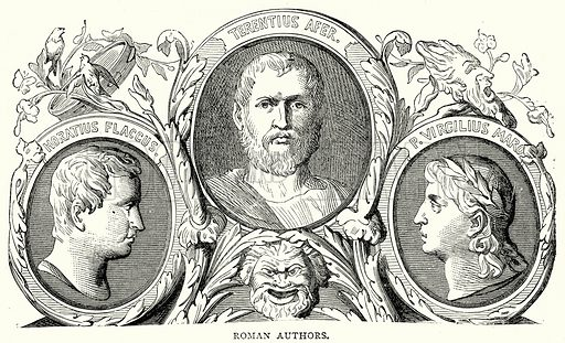 Roman Authors. Illustration from The Illustrated History of the World (Ward Lock, c 1880).