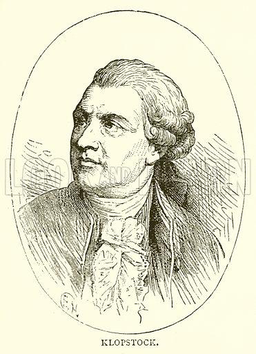 Klopstock. Illustration from The Illustrated History of the World (Ward Lock, c 1880).
