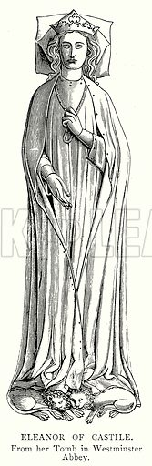 Eleanor of Castile. Illustration from A Short History of the English People by J R Green (Macmillan, 1892).