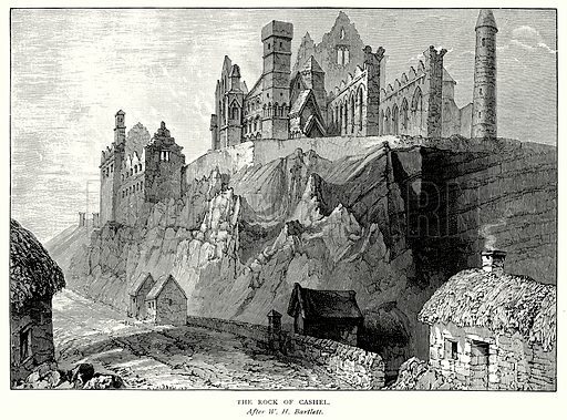 The Rock of Cashel. Illustration from A Short History of the English People by J R Green (Macmillan, 1892).