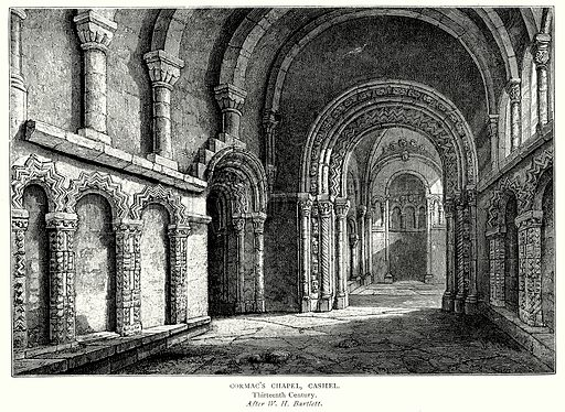 Cormac's Chapel, Cashel. Illustration from A Short History of the English People by J R Green (Macmillan, 1892).