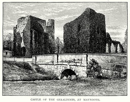 Castle of the Geraldines, at Maynooth. Illustration from A Short History of the English People by J R Green (Macmillan, 1892).