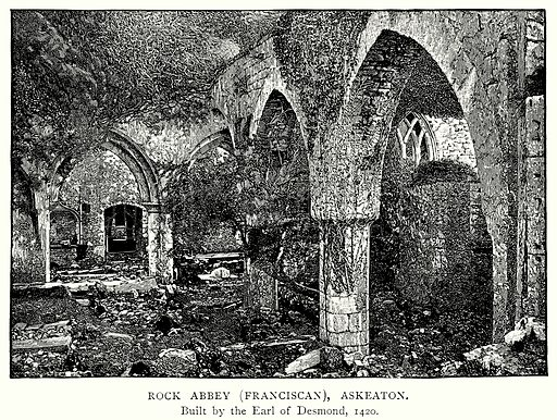 Rock Abbey (Franciscan), Askeaton. Illustration from A Short History of the English People by JR Green (Macmillan, 1892).