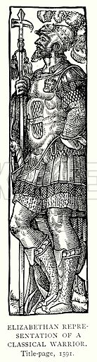 Elizabethan representation of a Classical Warrior. Illustration from A Short History of the English People by J R Green (Macmillan, 1892).