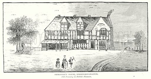 Shakspere's House, Stratford-on-Avon. Illustration from A Short History of the English People by J R Green (Macmillan, 1892).
