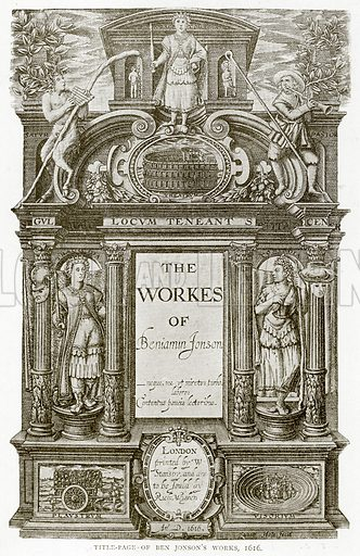 Title-Page of Ben Jonson's Works, 1616. Illustration from A Short History of the English People by J R Green (Macmillan, 1892).