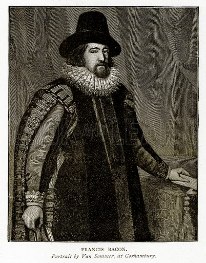 Francis Bacon. Illustration from A Short History of the English People by JR Green (Macmillan, 1892).