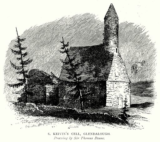 S. Keivin's Cell, Glendalough. Illustration from A Short History of the English People by J R Green (Macmillan, 1892).